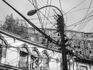 maraña de cables